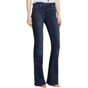 Paige Petite Dark Wash Bell Canyon Flare Jeans